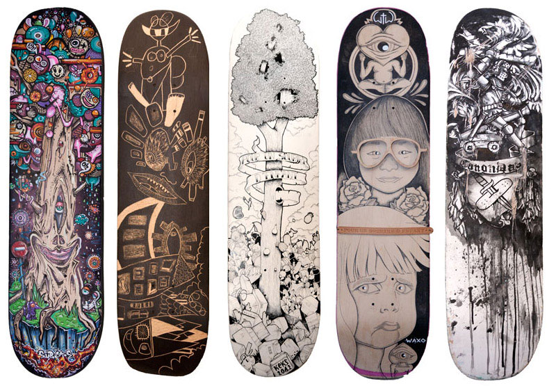 le skateboard au profit d 39 une op ration caritative inkulte. Black Bedroom Furniture Sets. Home Design Ideas