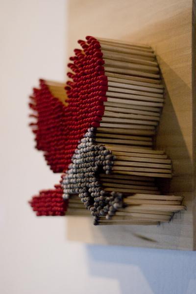 Pei san ng fait de l 39 art ph m re avec comme mat riel principal de simples allumettes inkulte - Decoratie volwassenen kamers ...