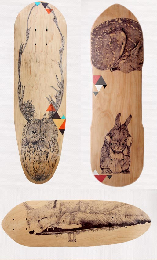 Cheyenne et sa plume onirique inkulte - Creer son skateboard ...