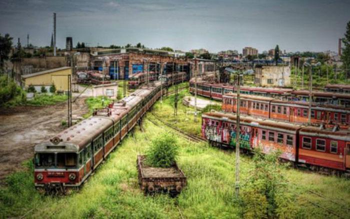 depot-de-train-Czestochowa-Pologne
